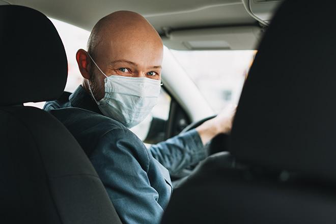 Taxi Nantes portez le masque